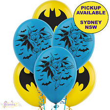 BATMAN PARTY SUPPLIES 6 LATEX BALLOONS SUPERHERO BIRTHDAY DECORATIONS