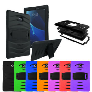 Shockproof Heavy Rugged Duty Armor Case Samsung Galaxy Tab A E 2 3 4 S S2 Lite