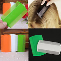 New 2pcs Fine Tooth Pet Head Lice Plastic Kids Hair Combs Flea Double Sided Nit