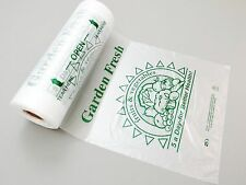 """12"""" x 20"""" Printed 5 A Day Produce Plastic Poly Bag 4 Rolls/cs 2400 Bags"""