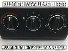 Opel Vectra B 95-03 Aluminium Ringe für Lüftungsregler / Heizungsregler x3