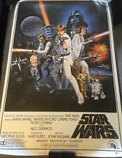 """HARRISON FORD FULL NAME SIGNED AUTOGRAPH """"STAR WARS"""" 24x36 MOVIE POSTER BECKETT"""
