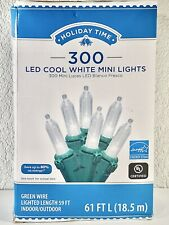300 Count Cool White LED Mini Christmas Wedding Lights Green Wire New