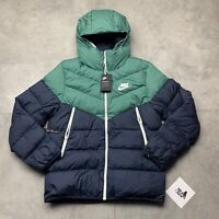 NIKE NSW WINDRUNNER DOWN FILL PUFFA COAT GREEN / BLUE SIZE SMALL 928833 362
