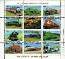 VINTAGE CLASSICS - Sierra Leone 1851 - Railways of the World - Sheet of 12 - MNH