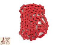 "MISSION 510 HEAVY DUTY 1/2"" X 1/8""---100L  BICYCLE RED CHAIN"