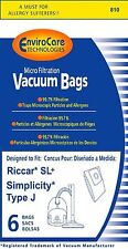 Riccar SL+ & Simplicity Type J Bag for Champ, 6 Bags
