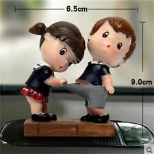 Funny 2 Pieces Boy Girl Cute Lover Dolls Car Decoration Interior Accessories