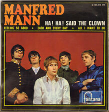 "MANFRED MANN ""HA! HA! SAID THE CLOWN"" 60'S EP FONTANA 465 376"