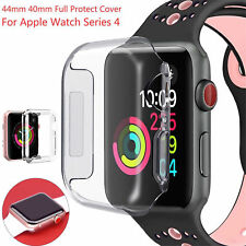 For Apple Watch Series 4,  44mm FULL SCREEN Clear Soft TPU Protector Cover