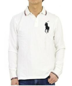 Polo Ralph Luren Big Pony Long Sleeves, Rugby Polo White Shirt