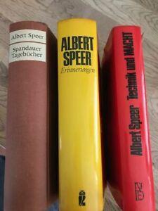 3 Bücher - Speer - Technik und Macht / Erinnerungen / Spandauer Tagebücher -