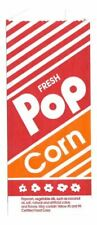 (100) No.4 Printed Popcorn Bags 10"