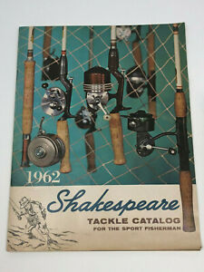 1962 Shakespeare Fishing Tackle Catalog Baitcasting Fly Rod Lure Collection