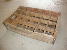 Vintage 1963 Wooden 7UP Soda Pop Bottle Crate Carrier Box