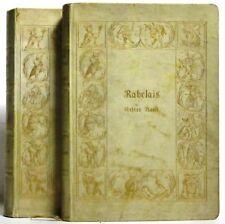 Franz Rabelais: Gargantua und Patagruel (2 Vol Vellum German Set W/ Gold Dec)