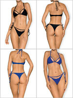 OBSESSIVE CostaRica Luxury Halter Bikini Top and Matching Tie Side Thong Set