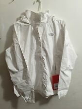 Women North Face Resolve Waterproof Jacket White Large