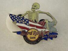 Hard Rock Cafe Pin Washington Surfin Skeleton 2009