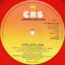"Johnny Mathis Gone Gone Gone 12"" Single (red vinyl)"