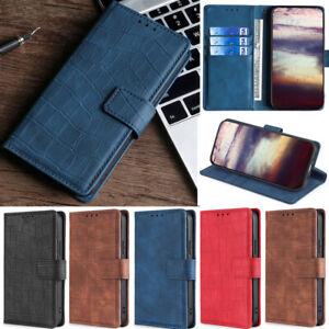 Crocodile Wallet Leather Flip Case Cover For Sony 5 II 10 III L4 L3 XZ2 XA2 Plus