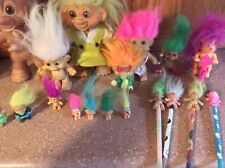 Lot Of 18 Vintage Trolls 604 Bank Miniature Pencil Dam Russ Forest 60's And Abov