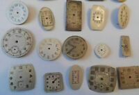 20 Older Wrist Watch Dials Croton Waltham Fontain 4 Parts or Art  Lot# P2