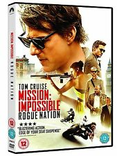 Mission Impossible Rogue Nation Tom Cruise DVD Region 2