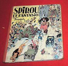 Spirou et Fanatsio par FRANQUIN. Dupuis 1948. Album carré dos orange. EO.