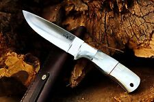 Custom D2 Steel & Mother of Pearl Hunting Knife from DCKC FREE Expedited Ship