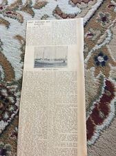b2-7 ephemera 1930 article the thanet queen wrecked off margate
