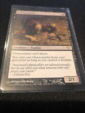 2012 Gravecrawler Zombie Magic The Gathering Card In Sleeve