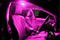Bright Purple LED Interior Light Kit for Toyota Hilux  4dr Workmate SR SR5 2005+