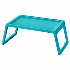IKEA KLIPSK Bed Tray Breakfast Food Meal Serving Table in Teal with iPad Holder