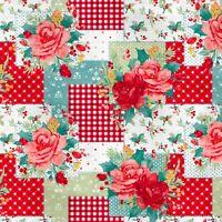 NEW Pioneer Woman Anti-pill Fleece Cheerful Rose Print Fabric  - 1.95 Yards