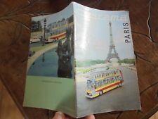Ancien Guide & Plan visite de Paris des Bus Autocars Touristiques CITYRAMA