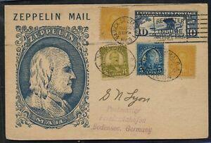 Zeppelin First Flight Cover 1929