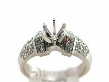 0.97 CT Natural Diamond Lady's Semi Mounth Ring VS2/G 950 Platinum