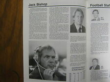 1988 Southern Utah State College Football Media Guide(JACK BISHOP/THANE MARSHALL