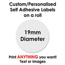 1000 Round Labels CUSTOM PERSONALISED PRINTED - 19mm Diameter