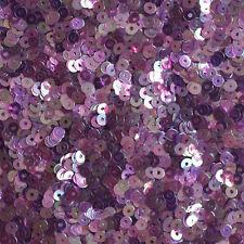 3mm Flat SEQUIN PAILLETTES Loose ~ AMETHYST PURPLE Rainbow Iris Crystal ~ USA