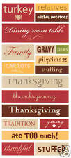 *THANKSGIVING* DCWV CARDSTOCK STICKERS Large Phrases LIMITED QTY