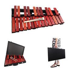 25 Key Glockenspiel Xylophone Marimba Percussion Keyboard & Leather Case Mallets