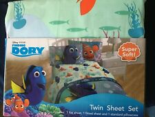 Finding Dory Twin Sheet Set *NO PILLOWCASE* *NEW* L1