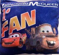 """Lightning McQueen Pillow Disney Pixar Cars #1 Fan Blue 12"""" X 13"""" Plush"""