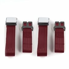 Desoto 1929 - 1945 Airplane 2pt Burgandy Lap Bucket Seatbelt Kit - 2 Belts rat