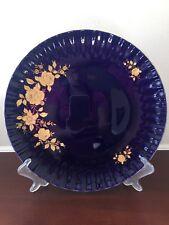 Wunsiedel Echt Kobalt Bavaria Porzellan 24 Karat Gold Cobalt Blue Gilt Plate