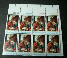 Us Plate Blocks Stamp Scott# 1414 Christmas Issue 1970 Blk of 8 Mnh L329