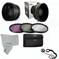 52MM Wide Angle Lens MACRO + UV CPL FLD FILTER KIT FOR NIKON D3000 D3100 D3200