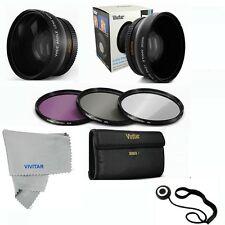 52MM Wide Angle Lens MACRO + UV CPL FLD FILTER KIT FOR NIKON D5200 D5300 D90 D80